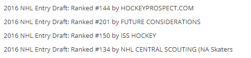 AL draft rankings